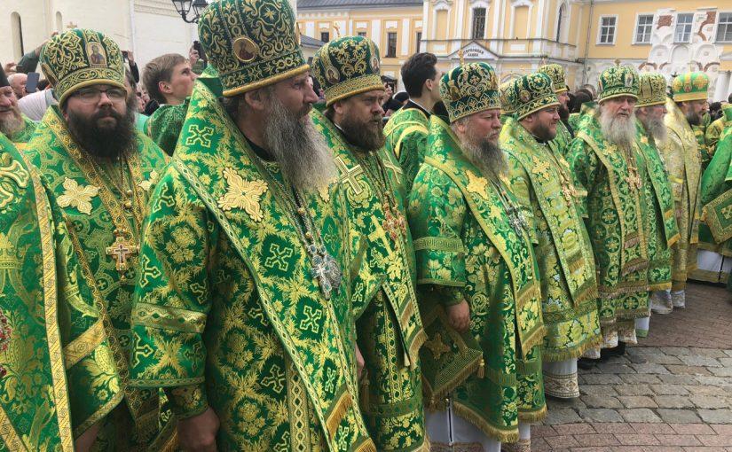 Епископ Митрофан принял участие в торжествах в Троице-Сергиевой лавре в день памяти прп. Сергия Радонежского
