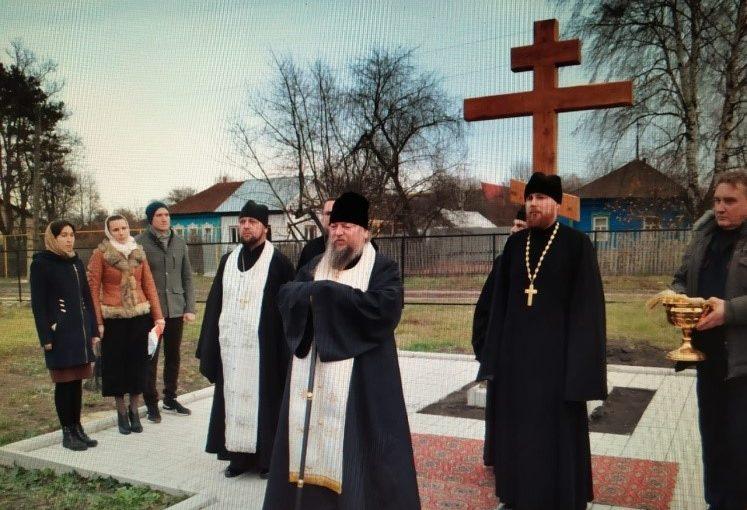 Освящение поклонного креста в Вадинске