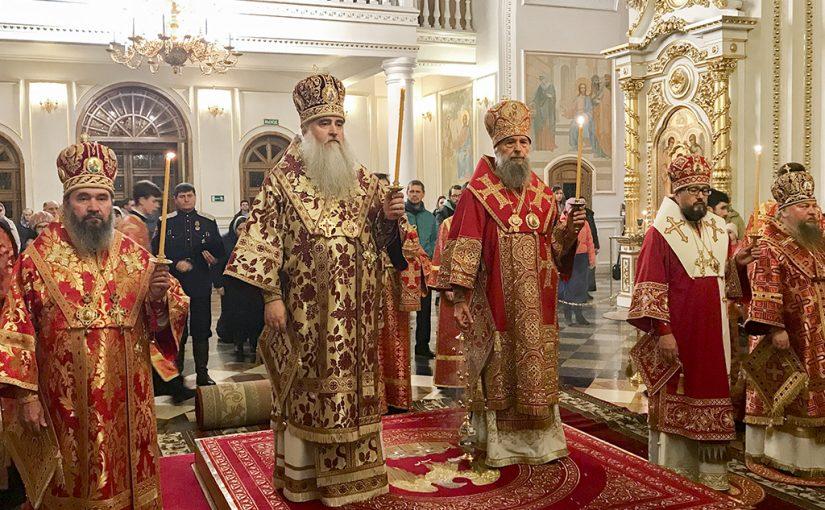 Всенощное бдение в кафедральном соборе  г. Саранска