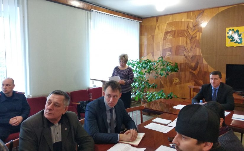 Иерей Дмитрий Пятунин принял участие в заседании Совета по вопросам гармонизации межэтнических и межконфессиональных отношений при Главе Администрации Колышлейского района