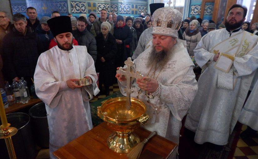 В праздник Крещения Господня епископ Митрофан совершил литургию и чин великого освящения воды в кафедральном соборе Сердобска