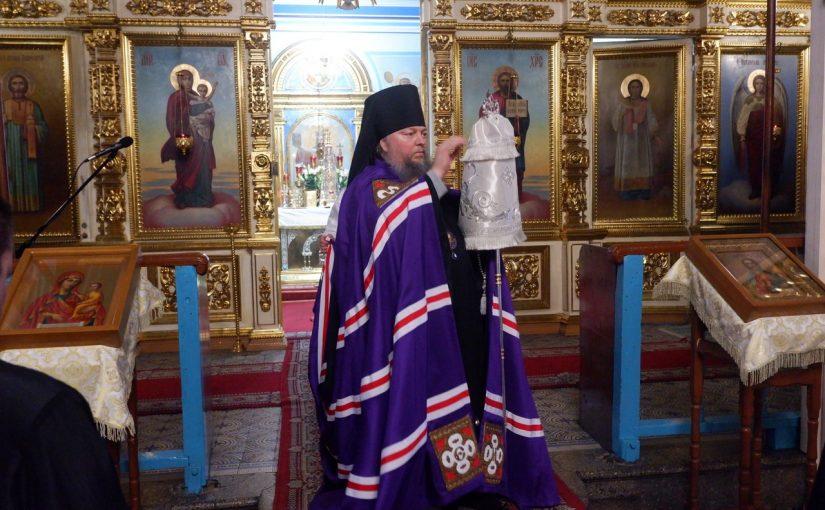 Всенощное бдение в канун праздника Крещения Господня в кафедральном соборе г. Сердобска