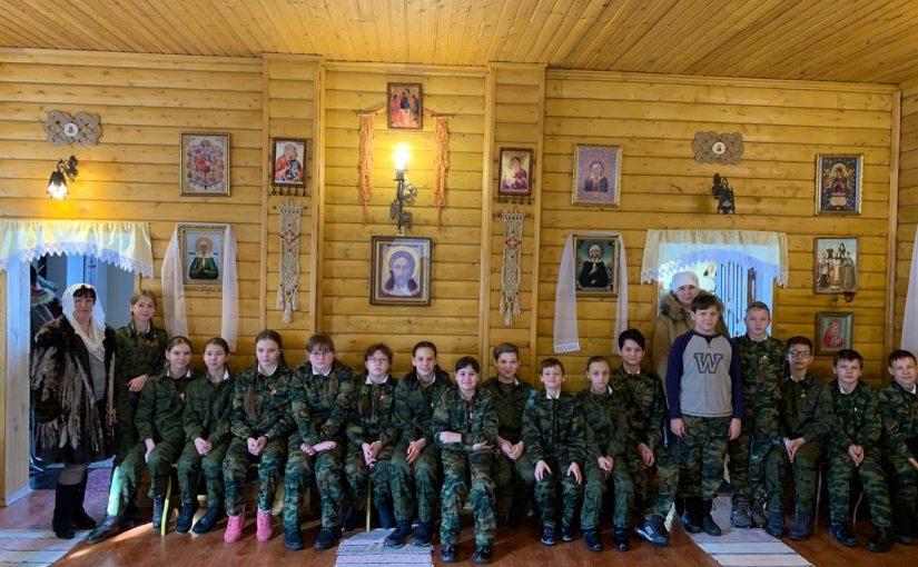 Учащиеся кадетского класса МОУ СОШ №9  г. Сердобска посетили храм преподобного Сергия Радонежского