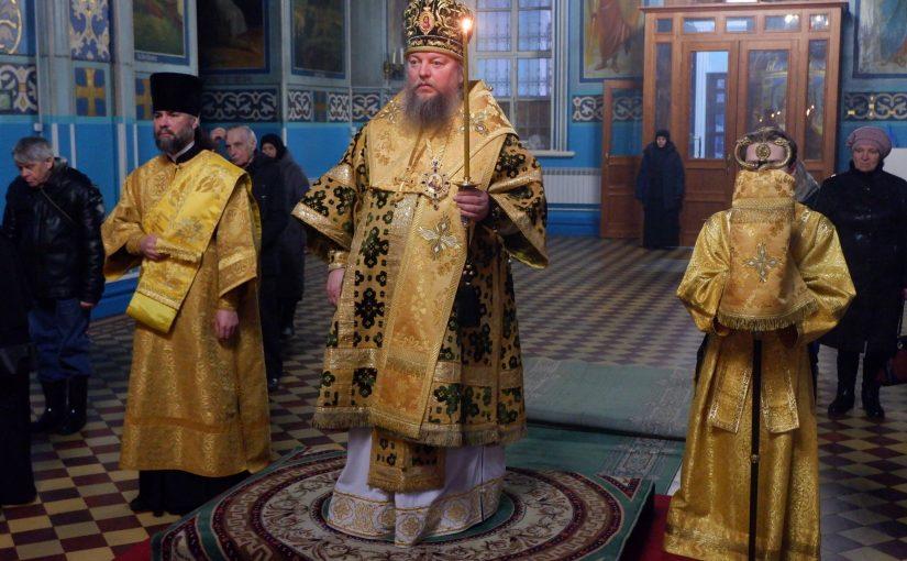 Епископ Митрофан совершил Всенощное бдение в кафедральном соборе г. Сердобска