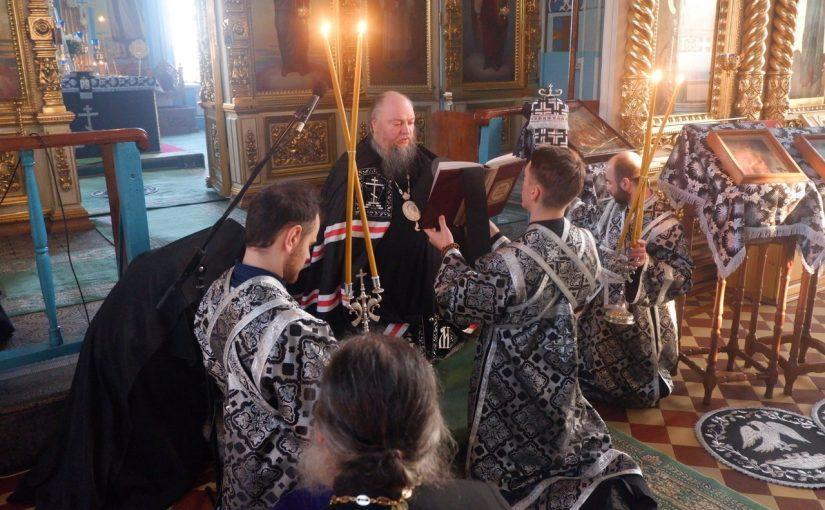 Епископ Митрофан совершил вечерню с чином прощения в кафедральном соборе г. Сердобска