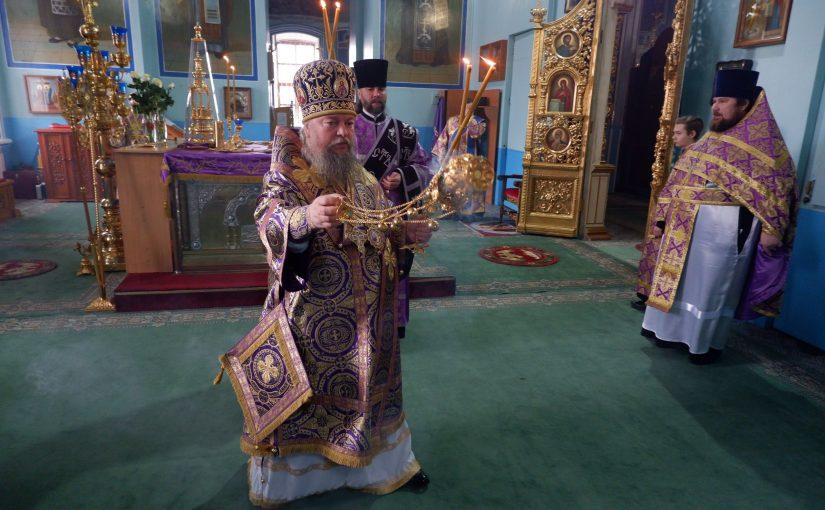 Епископ Митрофан возглавил Литургию в кафедральном соборе г. Сердобска