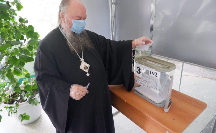 Епископ Митрофан принял участие в голосовании по поправкам к Конституции Российской Федерации