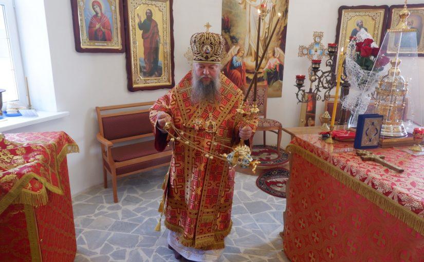 В день празднования Усекновения главы Иоанна Предтечи епископ Митрофан совершил Литургию в кладбищенском храме г. Сердобска
