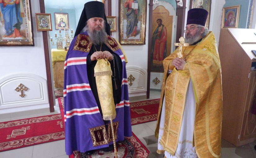 Епископ Митрофан совершил Литургию в Покровском храме г. Белинский