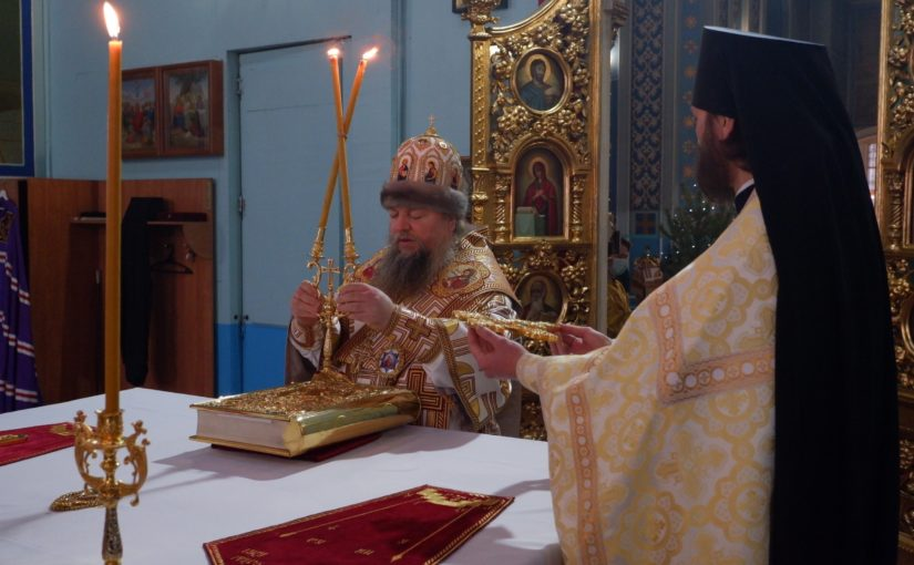Епископ Митрофан совершил Литургию в Михайло — Архангельском соборе Сердобска