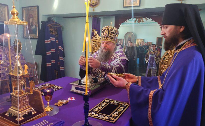 ЕПИСКОП МИТРОФАН СОВЕРШИЛ ЛИТУРГИЮ В КАЗАНСКОЙ АЛЕКСИЕВО – СЕРГИЕВСКОЙ ПУСТЫНИ ПОС. САЗАНЬЕ