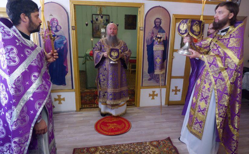 Епископ Митрофан совершил Литургию в храме Архангела Михаила с. Телегино