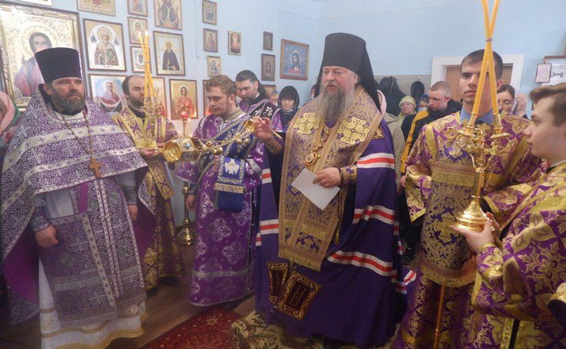 В третью Родительскую субботу Великого поста епископ Митрофан совершил Литургию в Покровском храме с. Березовка Колышлейского района