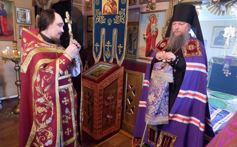 Епископ Митрофан совершил Литургию в Троицком храме с. Вяземка Земетчинского благочиния