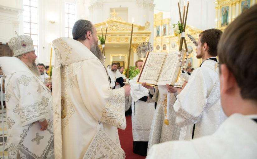 В канун Собора Пензенских святых митрополит Серафим возглавил всенощное бдение в Спасском кафедральном соборе