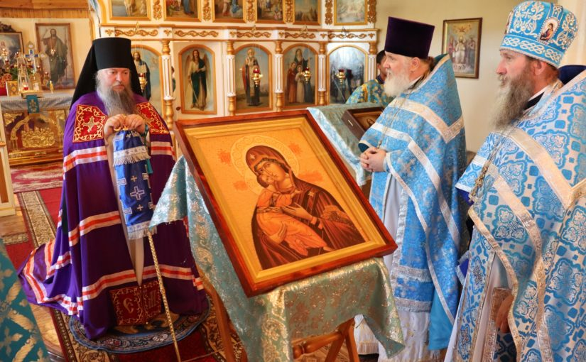 Епископ Митрофан совершил Литургию в храме с. Пушанино